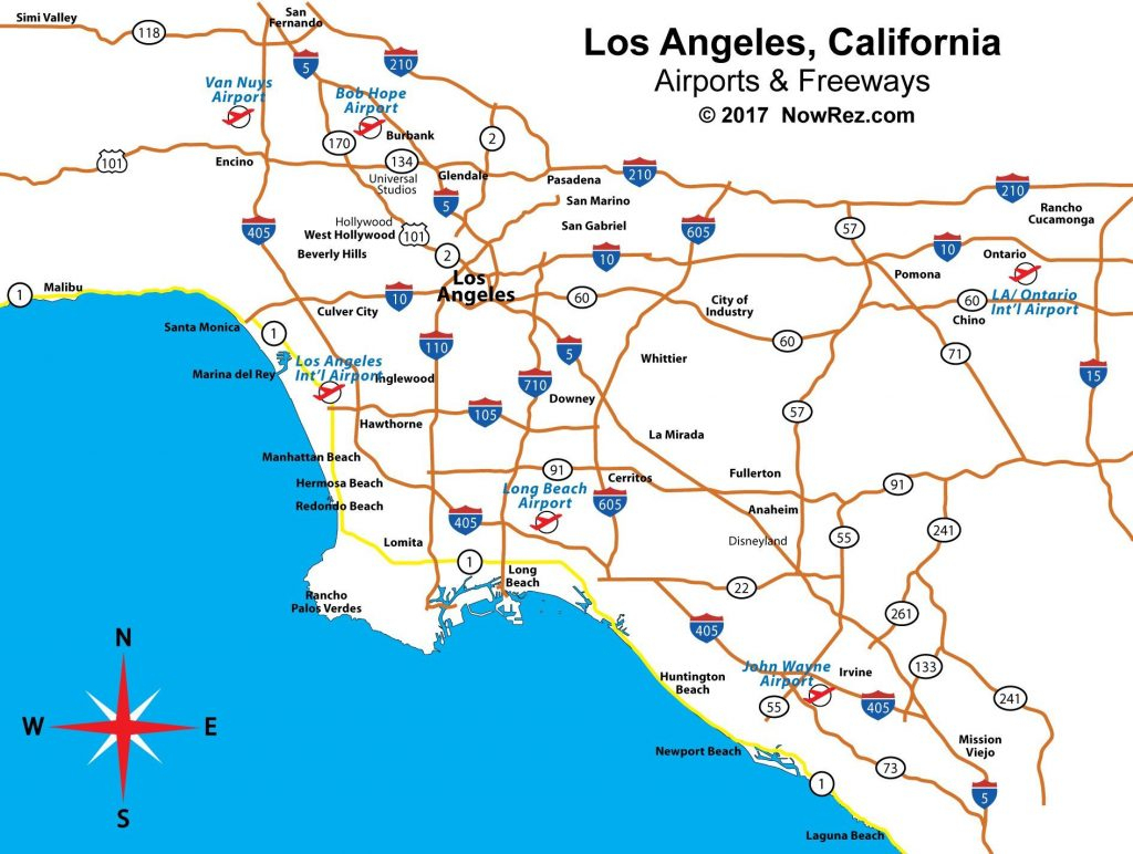 Map Of Southern California Airports - Klipy - Southern California Airports Map