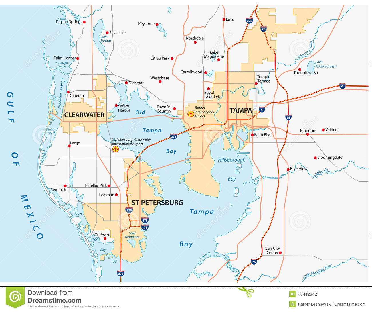 Map Of Tampa Florida And Surrounding Cities Free Download - Map Of Tampa Florida And Surrounding Area