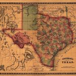 Map Of Texas 1866 Antique State Map Rolled Canvas Giclee Print 28X24   Texas Map Canvas
