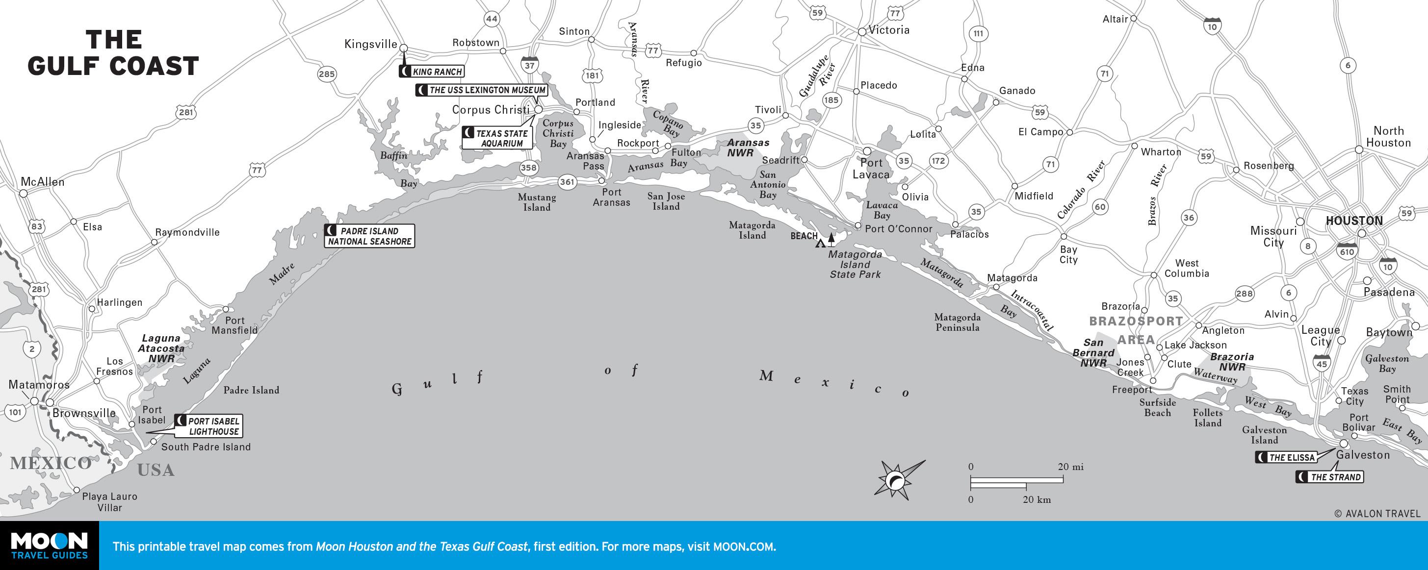 Map Of Texas Gulf Coast Beaches | Business Ideas 2013 - Map Of Texas Coastline Cities