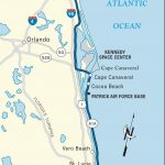 Map Of The Atlantic Coast Through Northern Florida. | Florida A1A   Map Of Florida Beaches