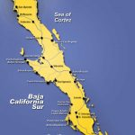 Map Of The Baja California Peninsula Of Mexico | Bajainsider   Map Of Baja California Mexico