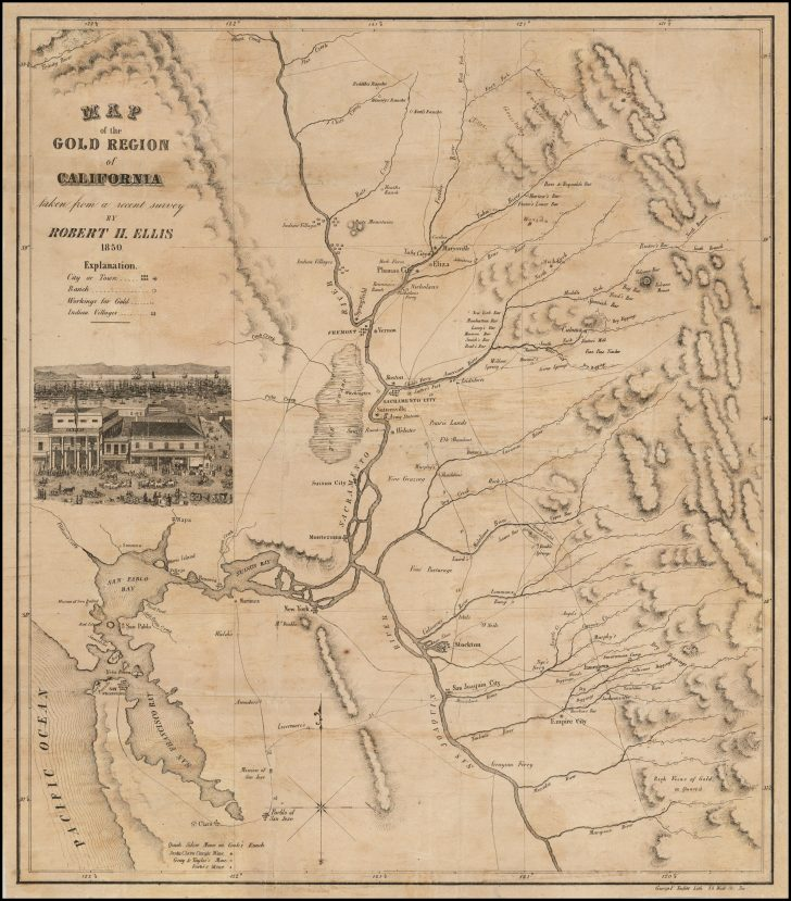 California Gold Mines Map