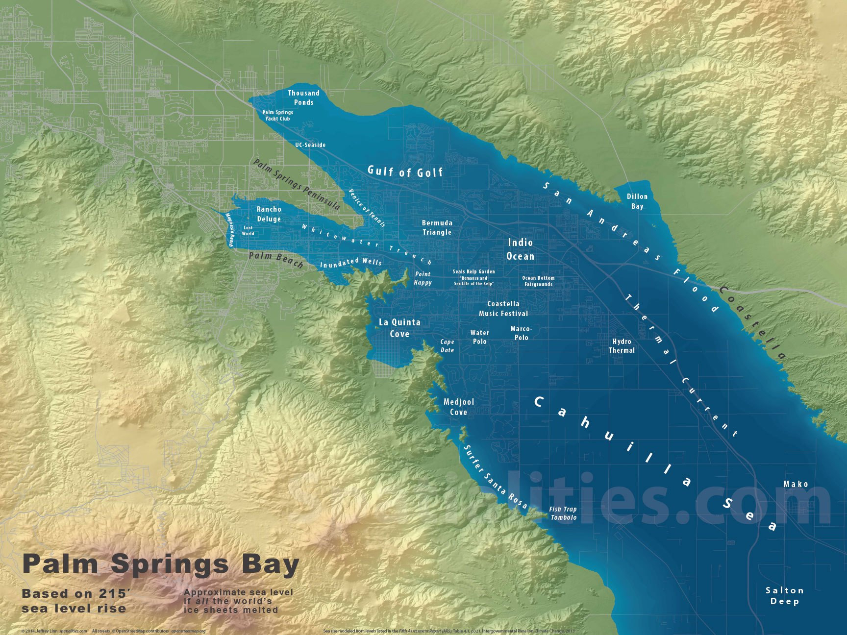 Map Of The Gulf Of California Printable Maps Sea Level Rise Maps - California Sea Level Map