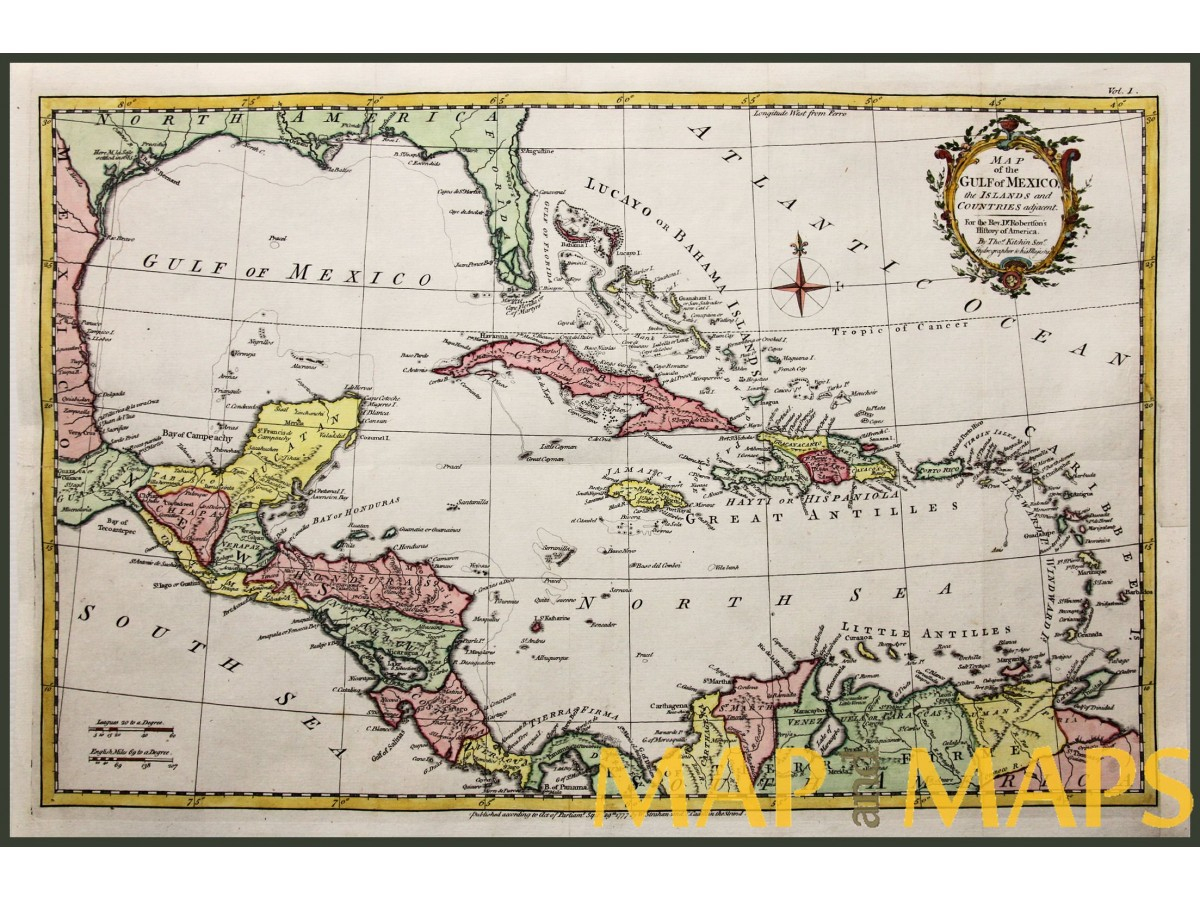 Map Of The Gulf Of Mexico, Cuba Bahamas Map Kitchin | Mapandmaps - Map Of Florida And Bahamas