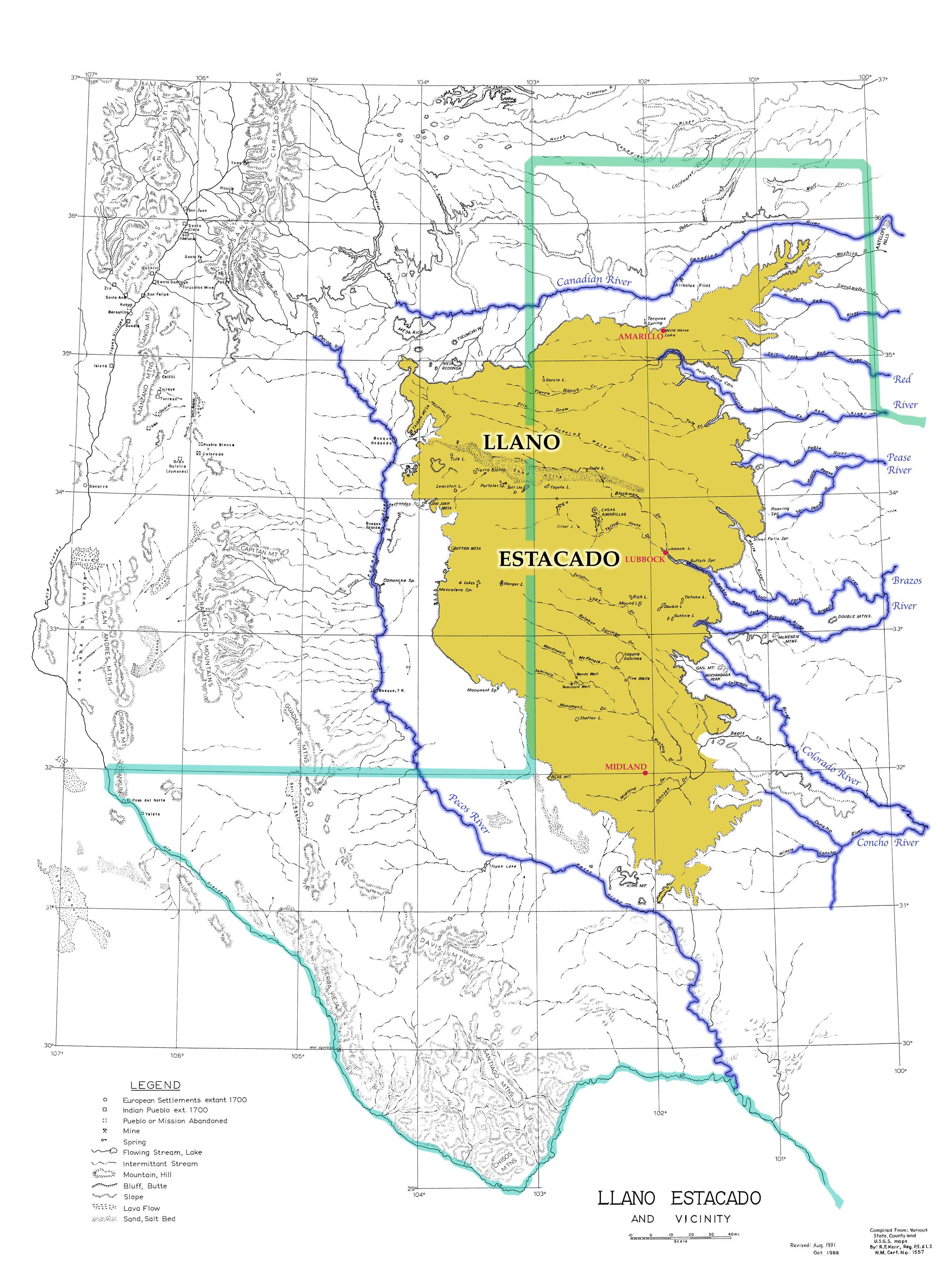 Map Of The Llano Estacado | Architecture | Pinterest | Llano - Adobe Walls Texas Map