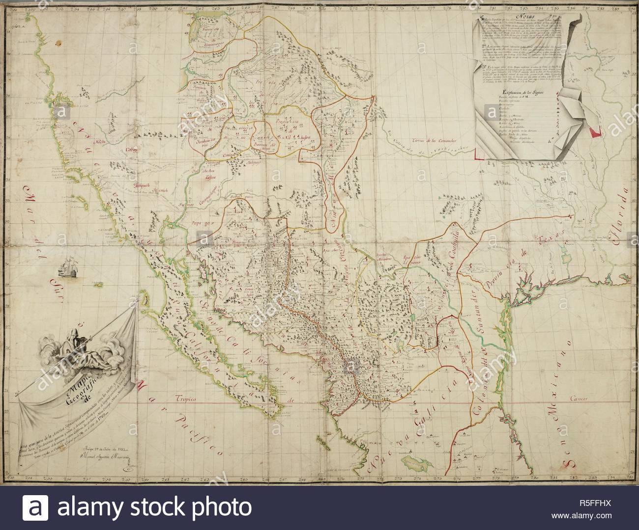 Map Of The Provincias Internas De La Commandancia De Chihuahua - Map Of Southern California And Northern Mexico