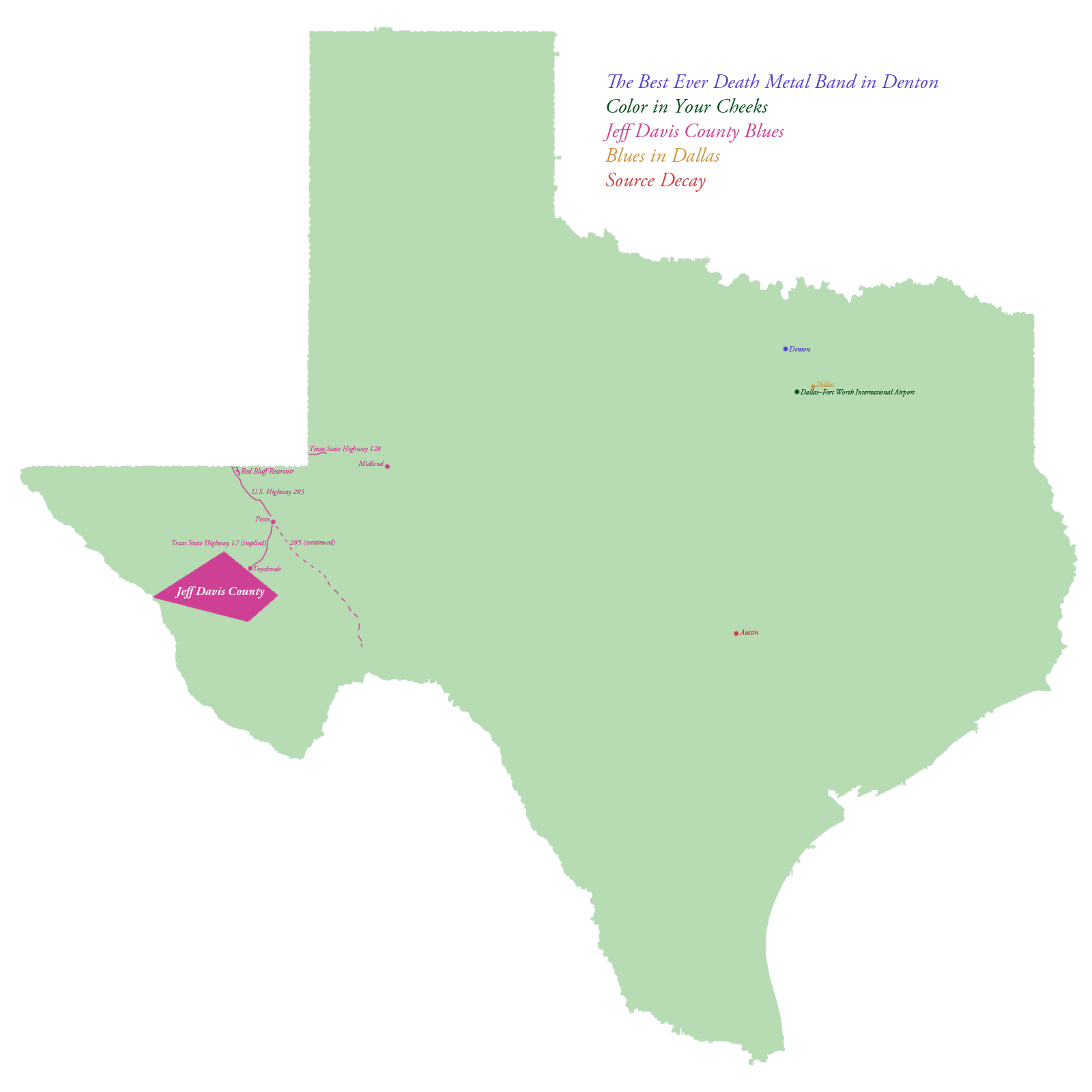Map Of The Specific Locations In Texas That Are Mentioned In All - Hail Maps Texas