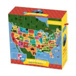Map Of The U.s.a. Jumbo Puzzle – California Map Puzzle