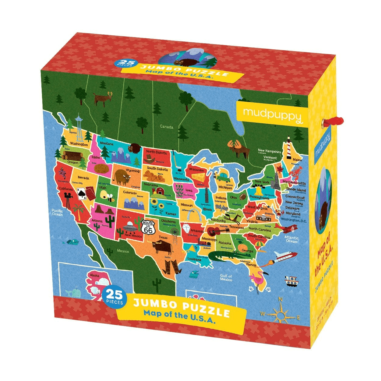 Map Of The U.s.a. Jumbo Puzzle - California Map Puzzle