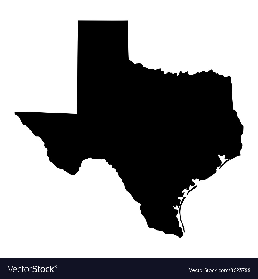Map Of The Us State Of Texas Royalty Free Vector Image - Texas Map Vector Free