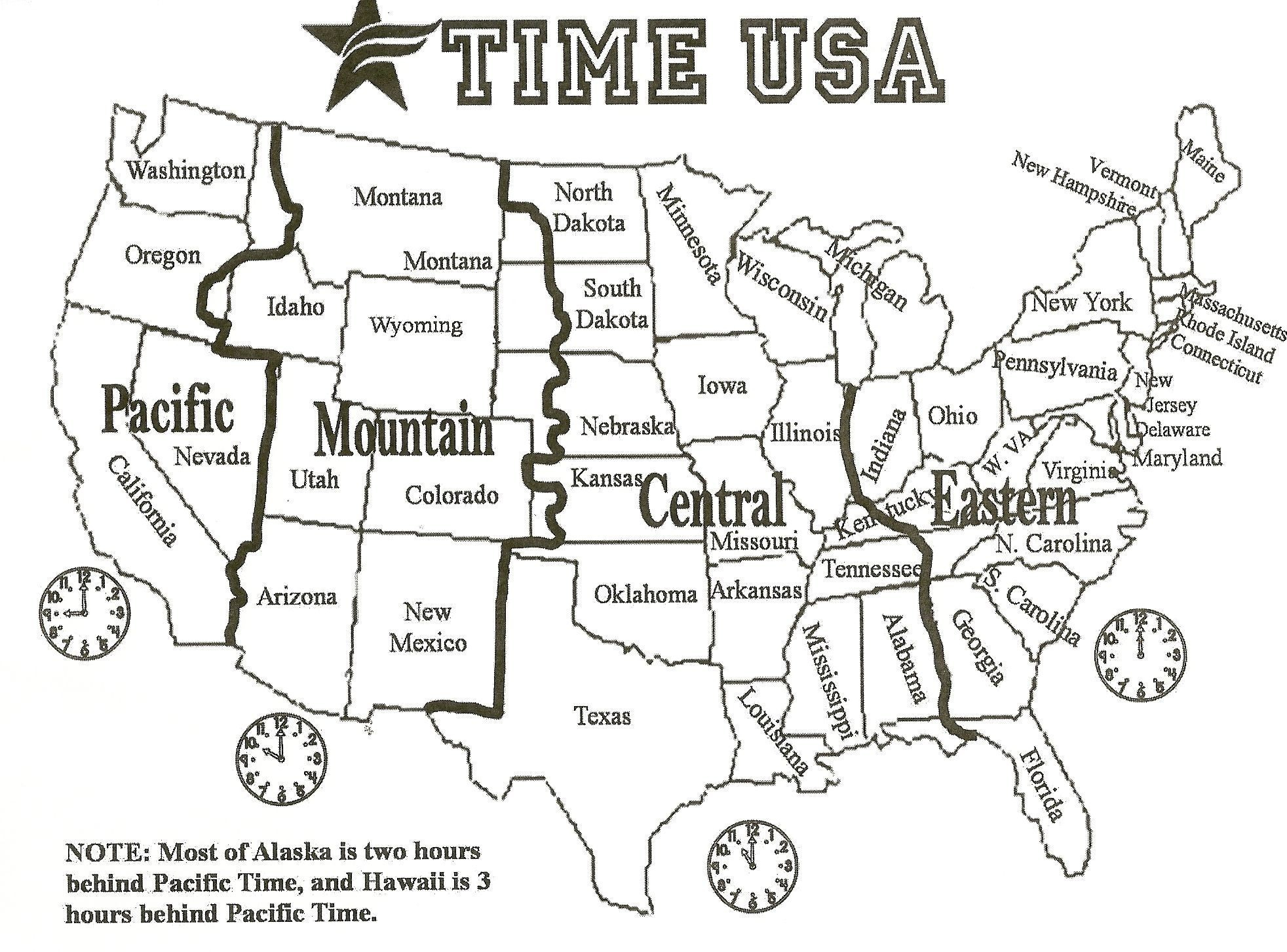 Map Of Time Zones In The Us Usa Time Zone Map Fresh Printable Map - Printable Time Zone Map Usa With States