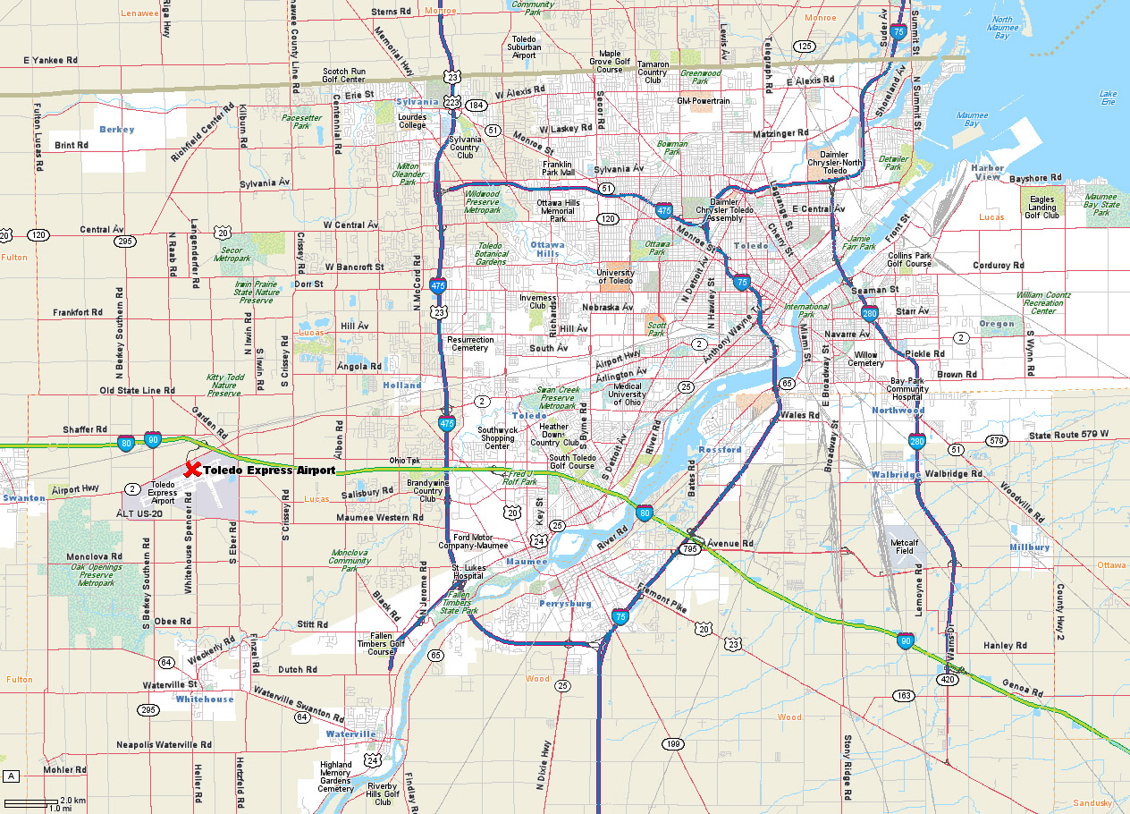 Map Of Toledo Ohio | World Map 07 - Printable Map Of Toledo Ohio