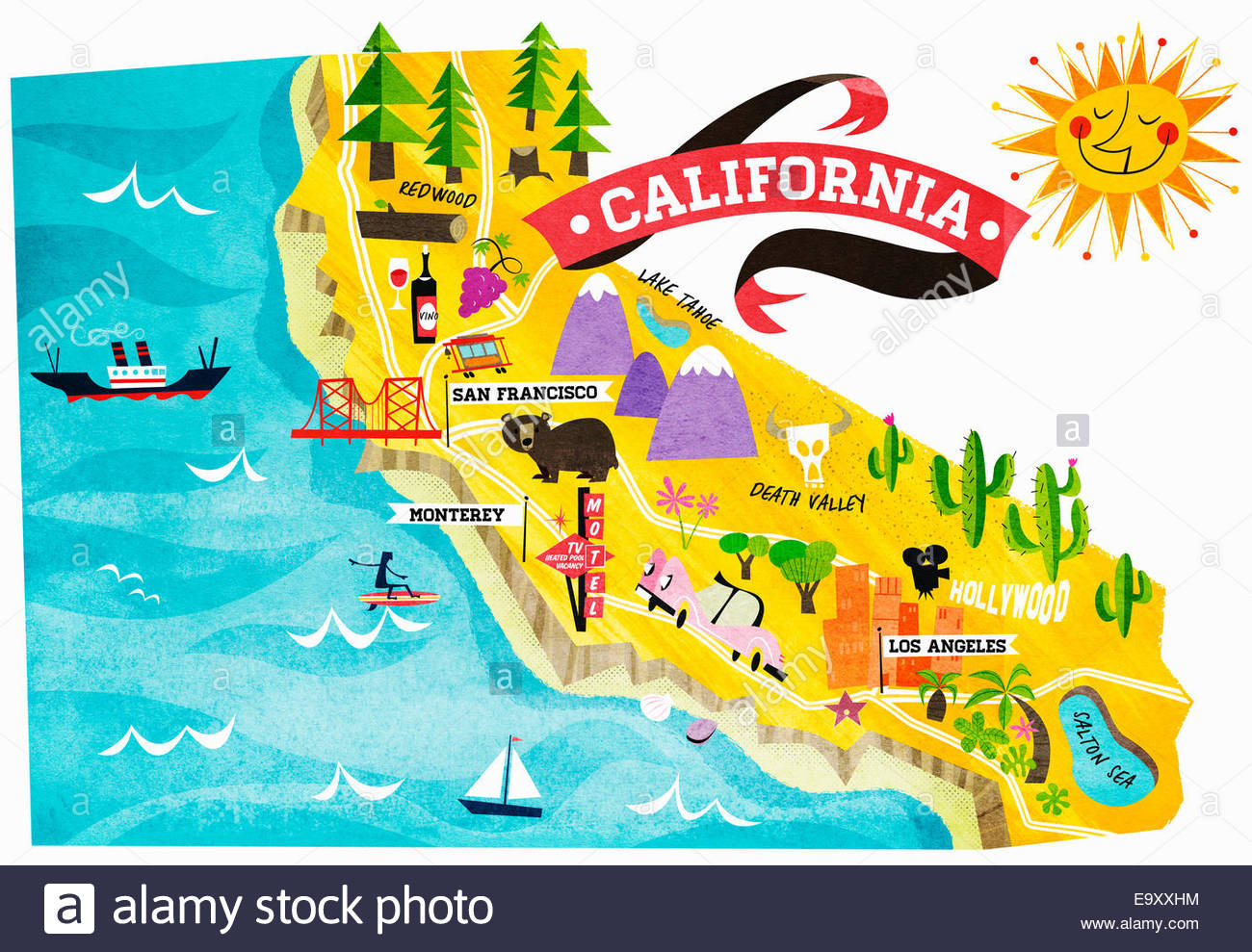 Map Of Tourist Attractions In California Exxhm Google Maps - California Tourist Map