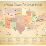 Map Of Us National Monuments National Park Map Lovely Printable Map   Printable Map Of National Parks
