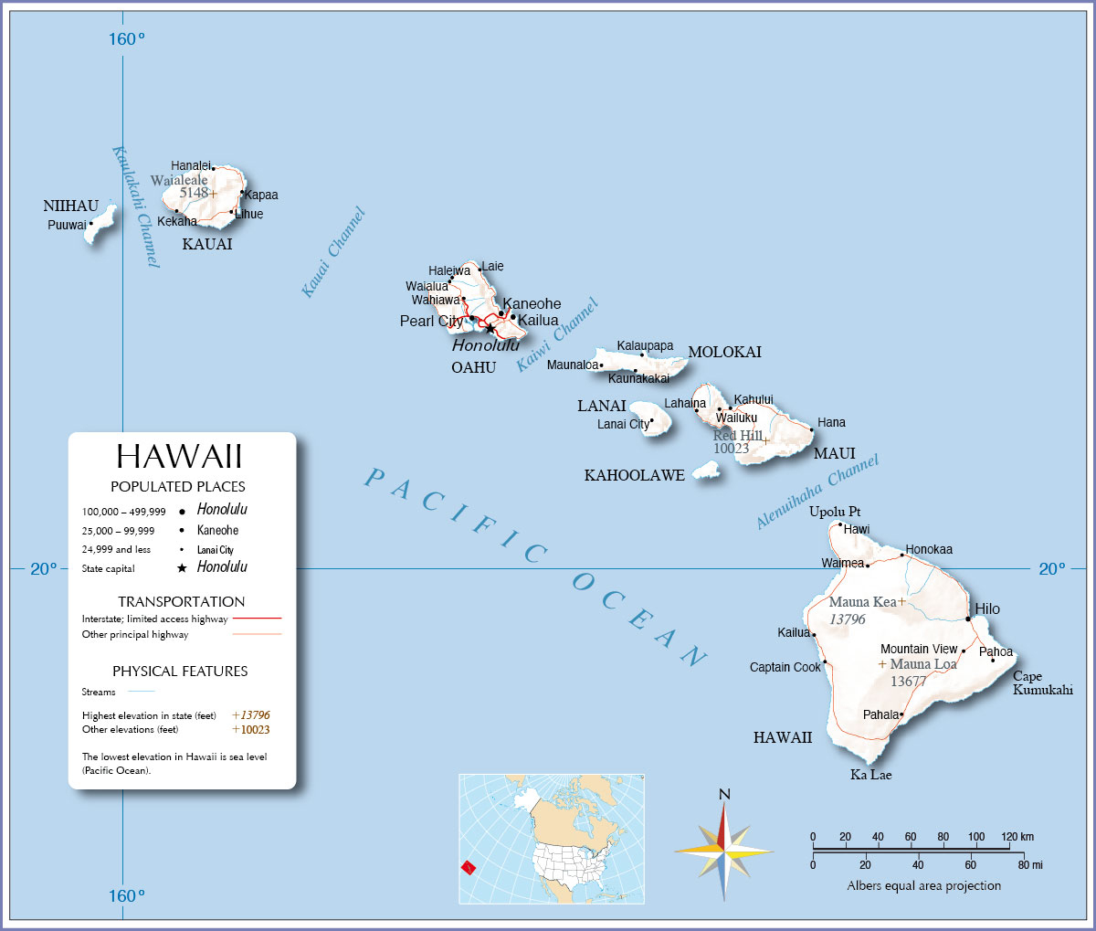 Map Of Usa Hawaii Best At Maps Map California Map Of Hawaiian - Map Of Hawaiian Islands And California
