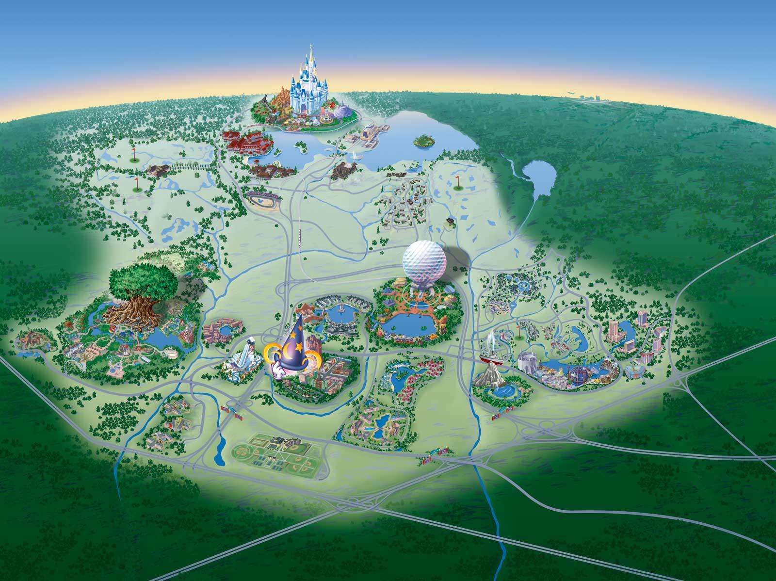 Map Of Walt Disney World Resort - Wdwinfo - Disney Hotels Florida Map