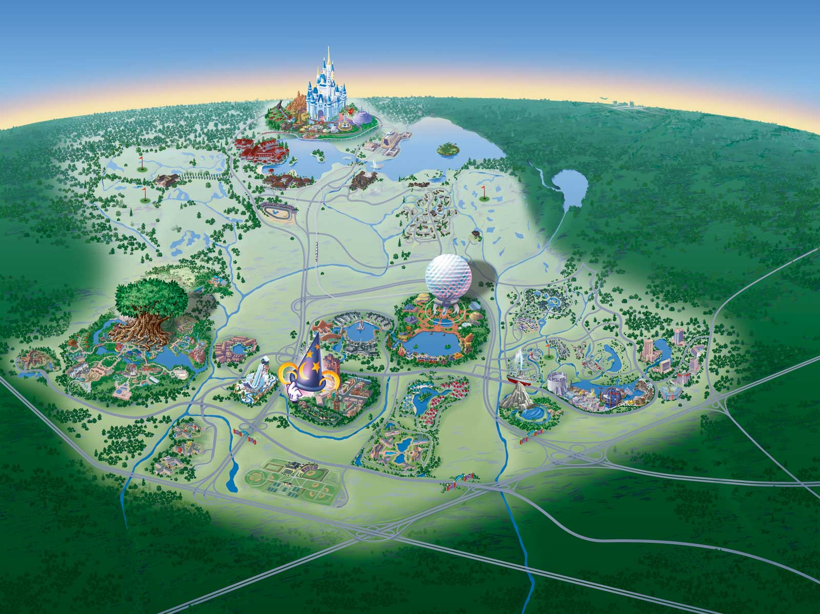 Map Of Walt Disney World Resort - Wdwinfo - Map Of Disney World In Florida