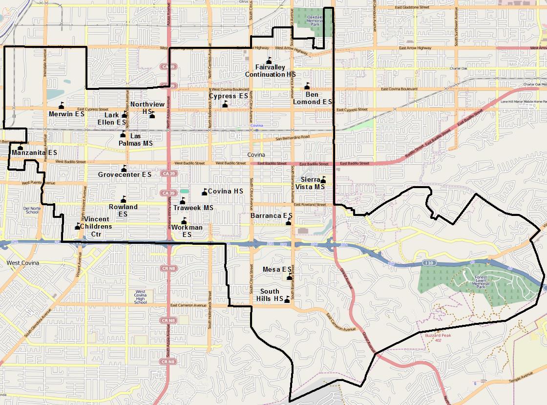 Map Of West Covina California - Klipy - West Covina California Map