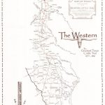Map Of Western Cattle Trail In Texas   Texas Cattle Trails Map