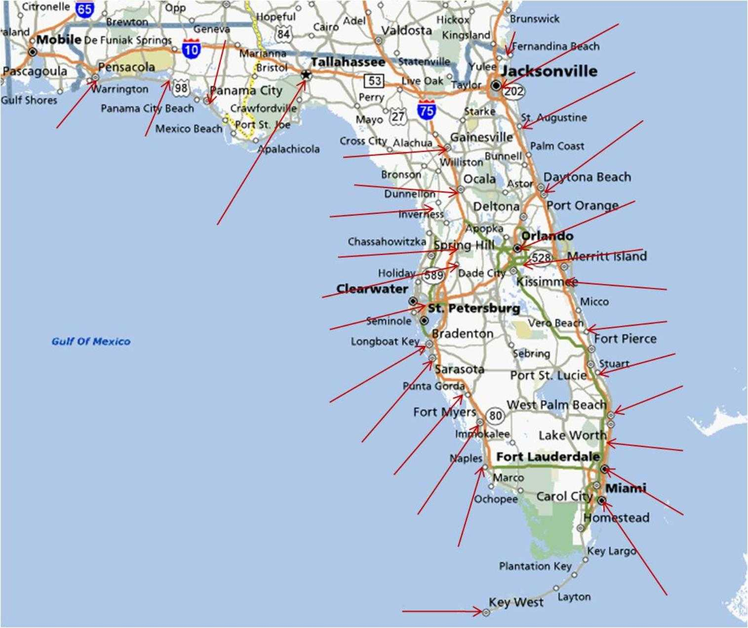 Map Western Florida.Map Of Western Florida West Florida Beaches Map Printable Maps