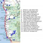 Map Oregon Washington Coast South Southern Area Campgrounds Digital   Washington Oregon California Coast Map