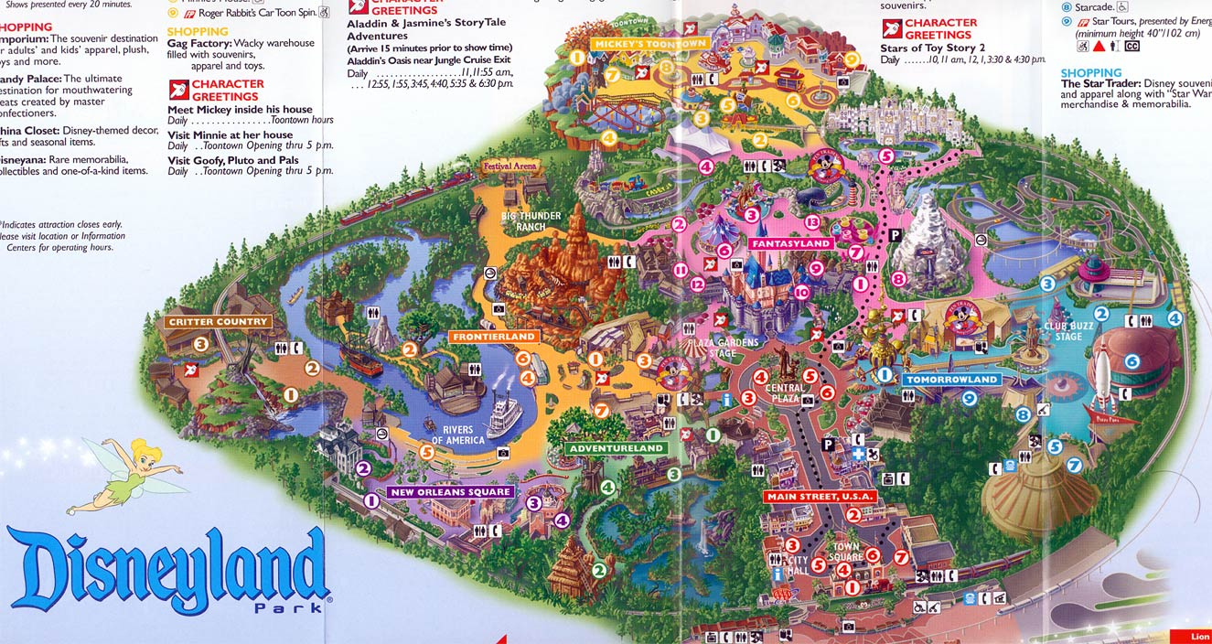 Map Reference Disney World California Map - Klipy - Disney California Map