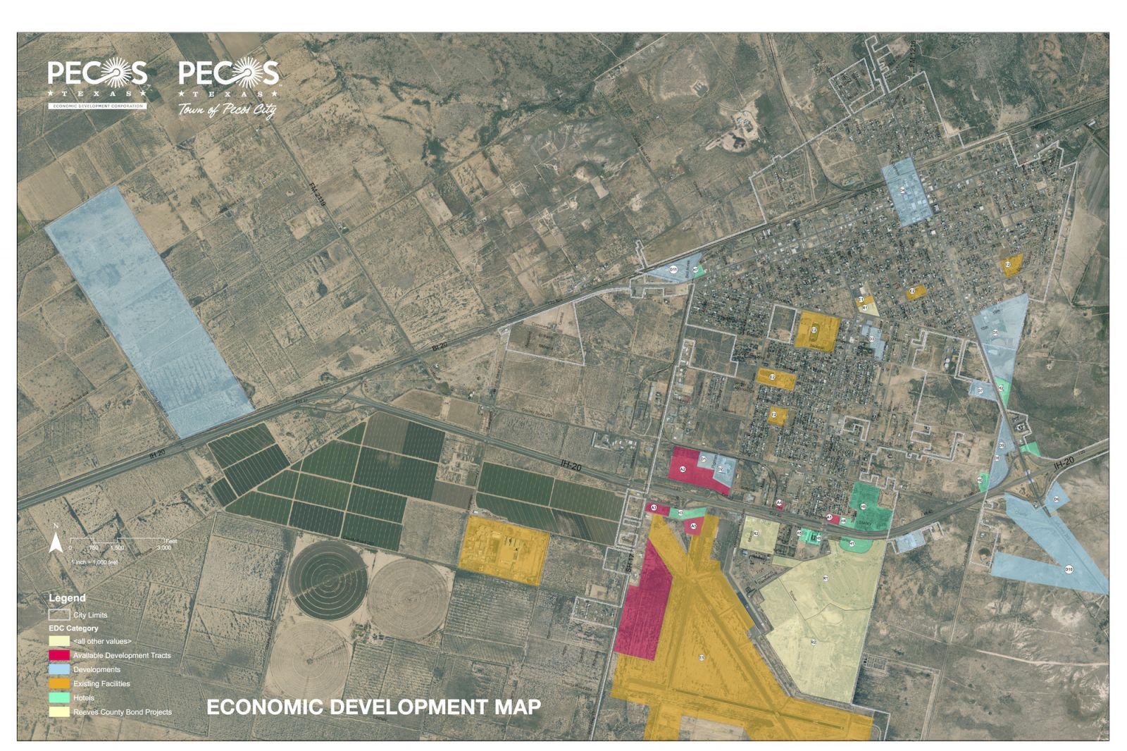 Map Room | Pecos, Tx Edc - Reeves County Texas Plat Maps