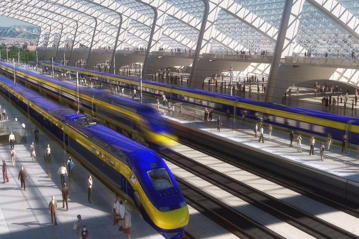 Map Shows High-Speed Rail's Sluggish Progress - Curbed Sf - High Speed Rail California Map