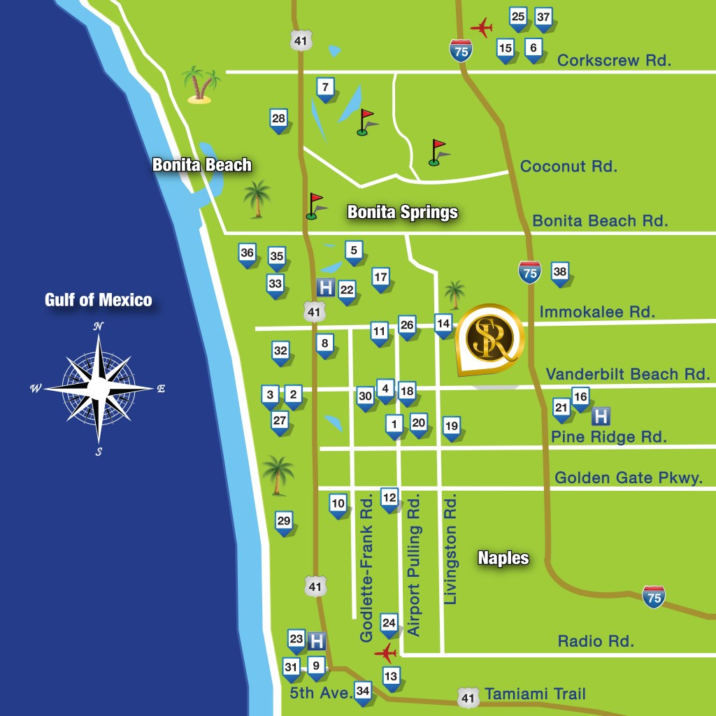 Map - Sienna Reserve Naples - Map Of Hotels In Naples Florida