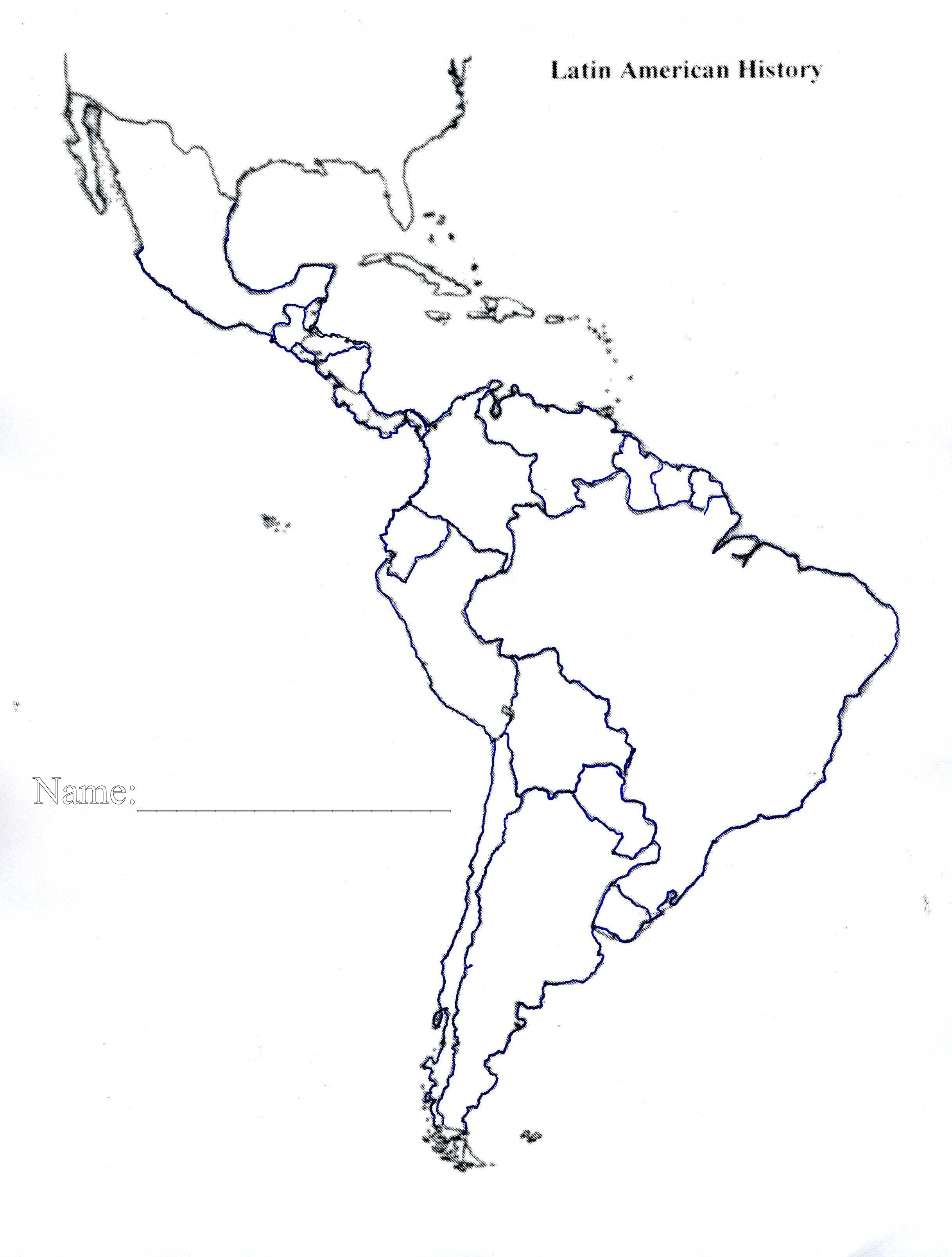 Map South America Blank Printable | Globalsupportinitiative - Blank Map Of Latin America Printable