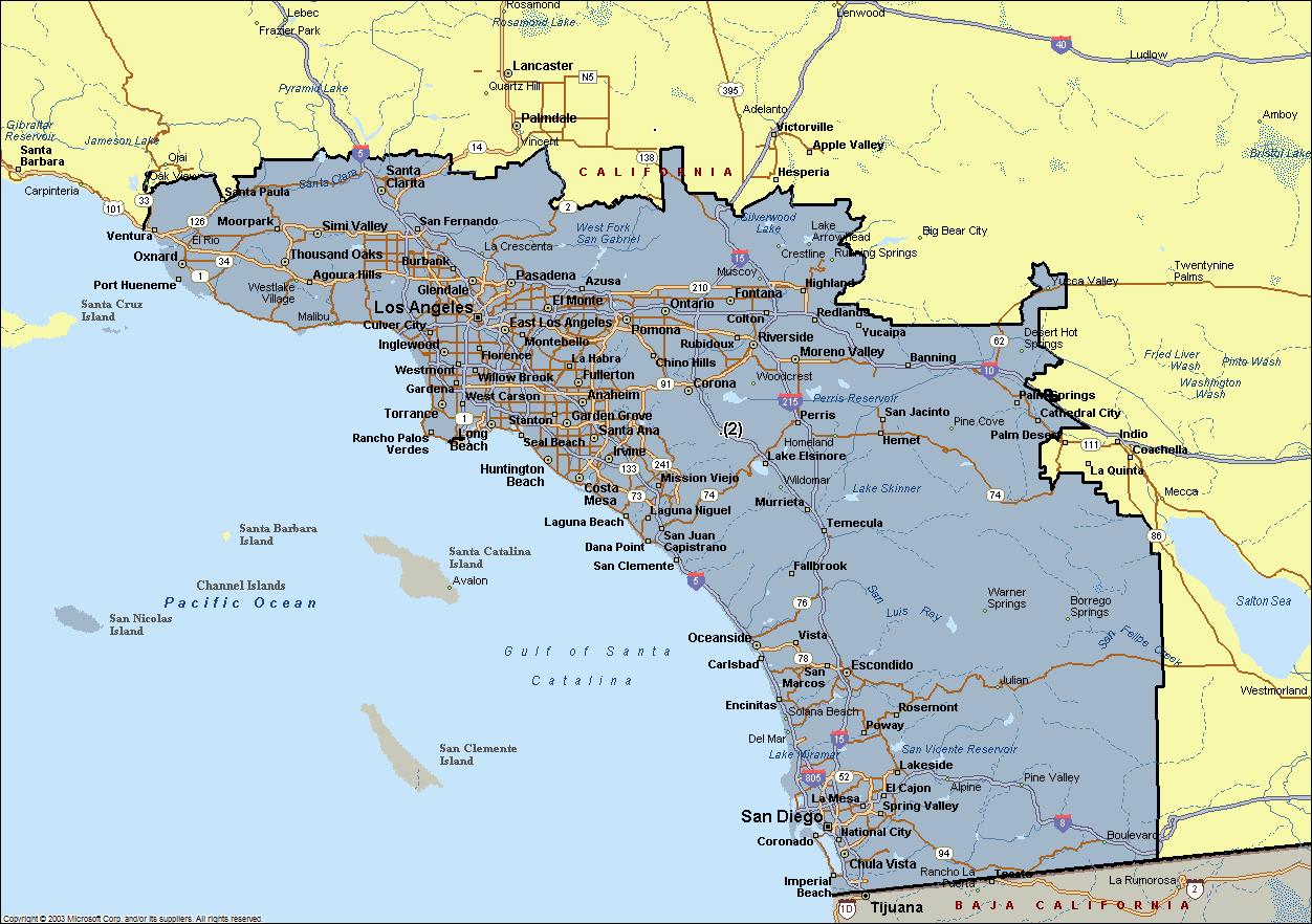 Map Southern California Cities California State Map Southern - Map Of Southern California Cities