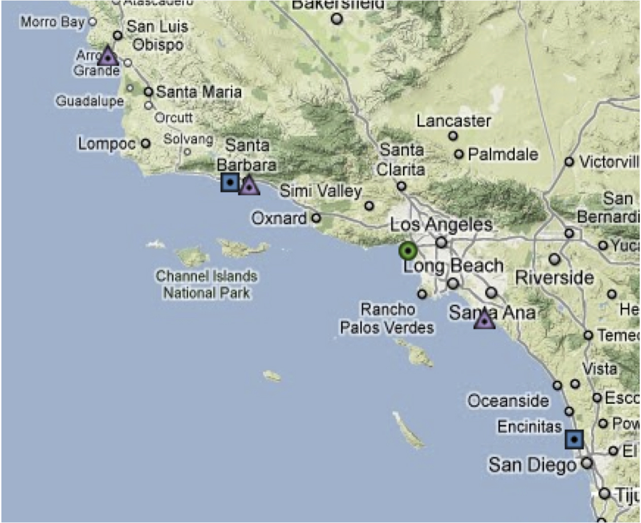 Map Southern California Coast California Road Map Map Of Southern - Map Of California Coast Beaches