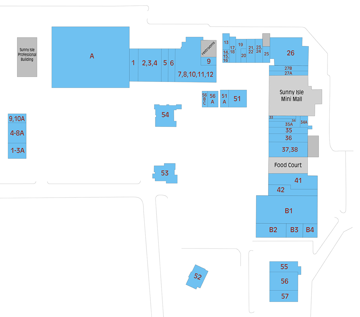 Map - Sunny Isle Shopping Center - Sunny Isles Florida Map