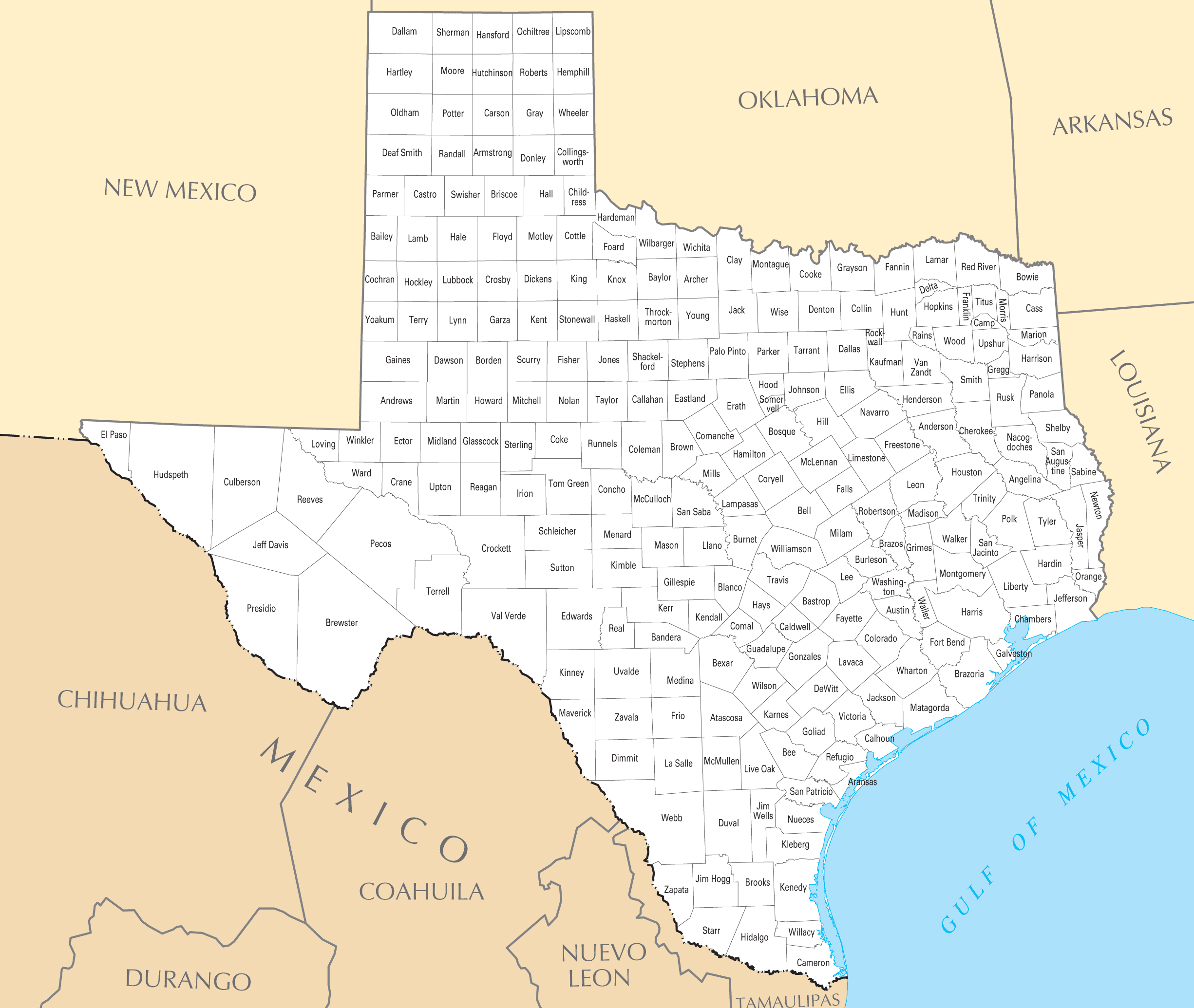 Map Texas Counties And Travel Information | Download Free Map Texas - Google Maps Texas Counties