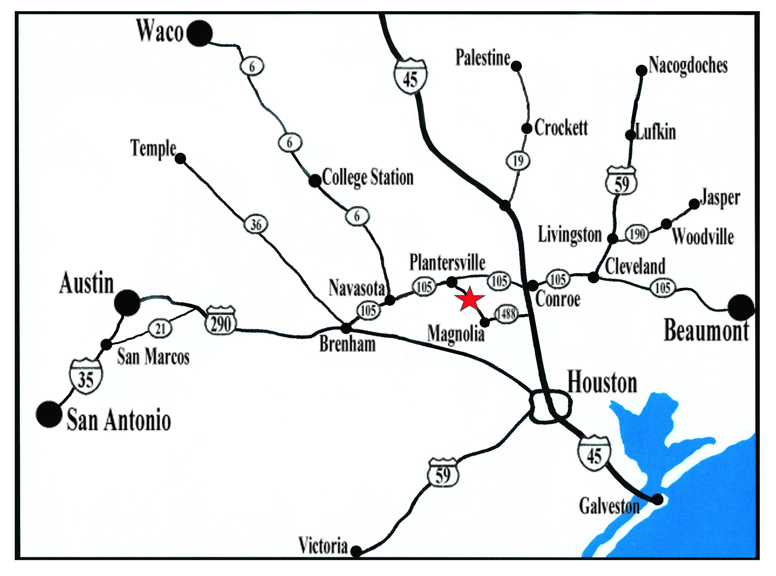 Map – Texas Renaissance Festival - Texas Map Directions
