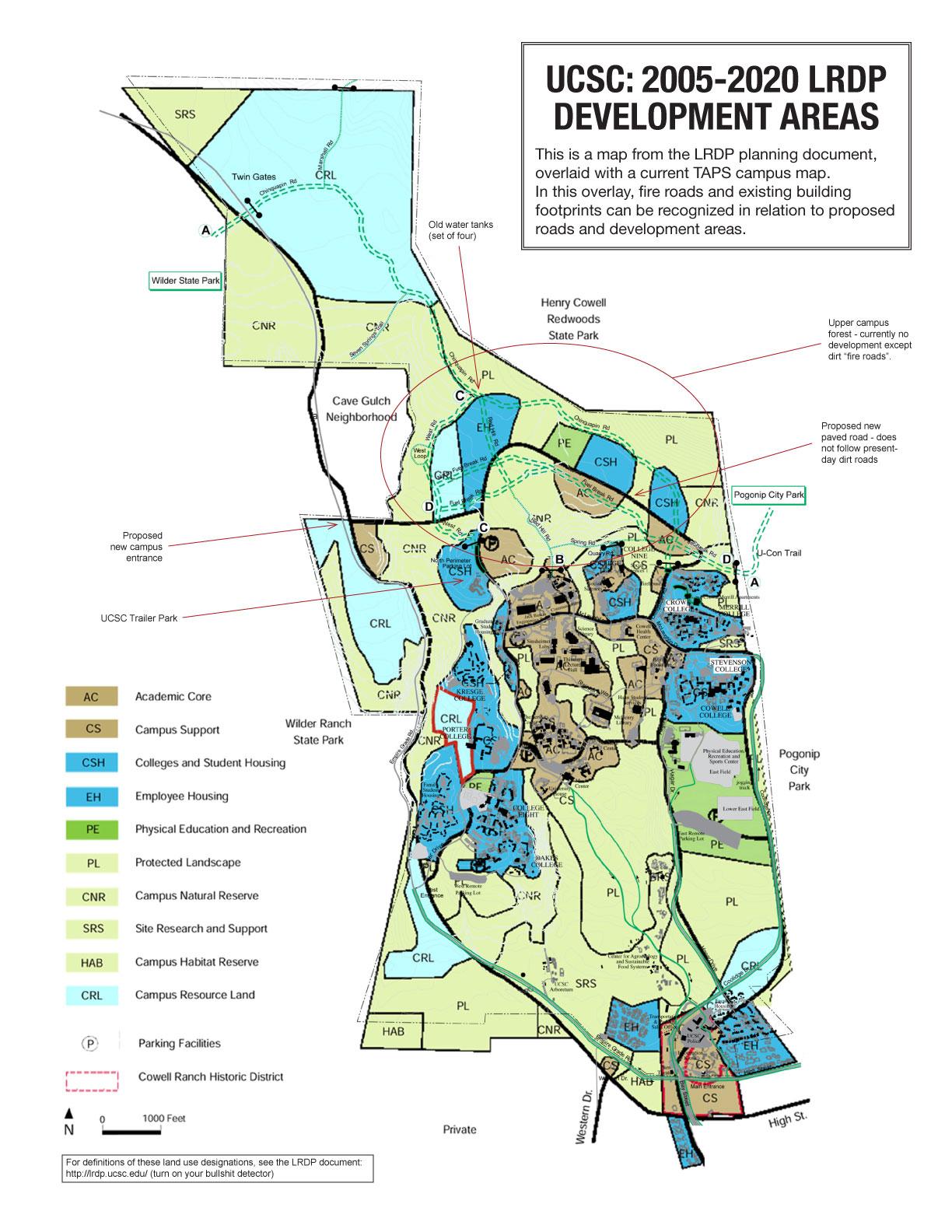 Map Uc Santa Cruz Map Of California Springs University Of California - University Of California Santa Cruz Campus Map