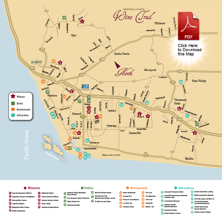 Map | Ventura County Wine Trail - California Wine Trail Map