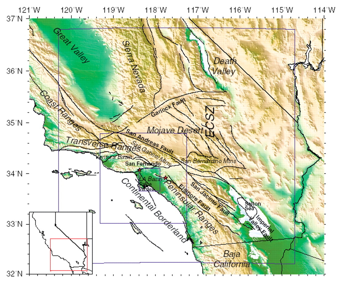 Map With Image Southern California Elevation Map - Klipy - California Terrain Map