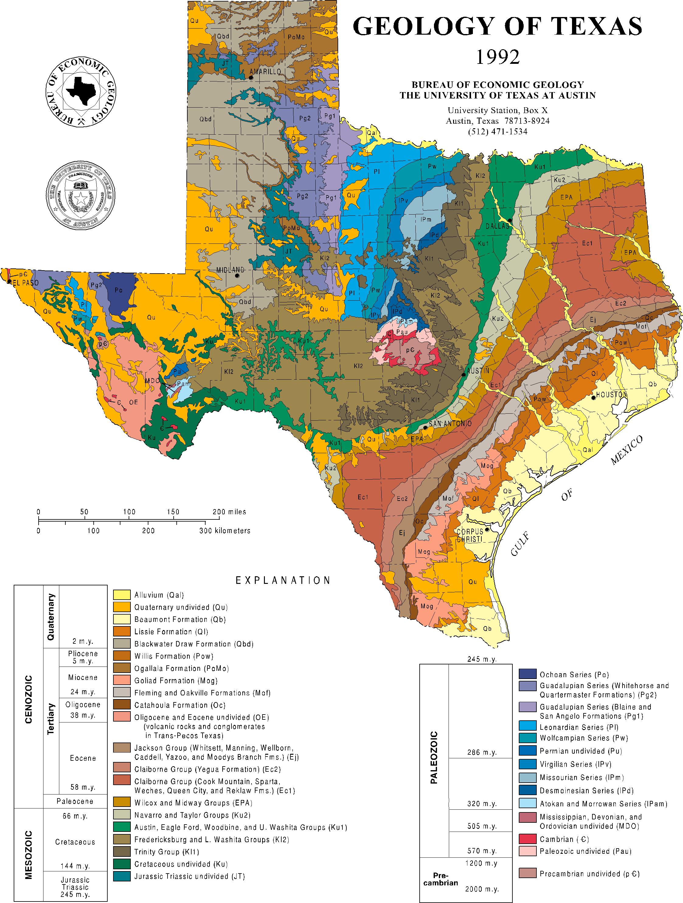 Mapping Texas Then And Now | Jackson School Of Geosciences | The - Texas Land Map