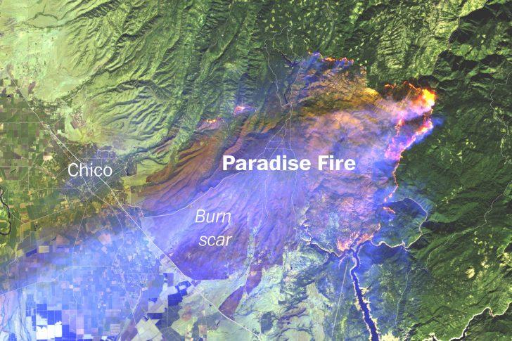 California Wildfire Map 2018
