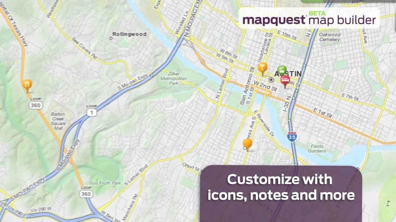 Mapquest For Travelers, Bloggers, Developers & More - Youtube - Mapquest Texas Map