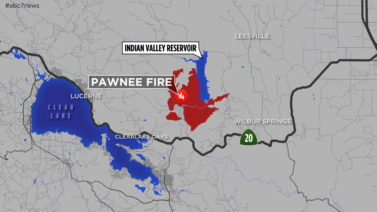 Maps: A Look At The 'pawnee Fire' Burning In Lake County Near - Graton California Map