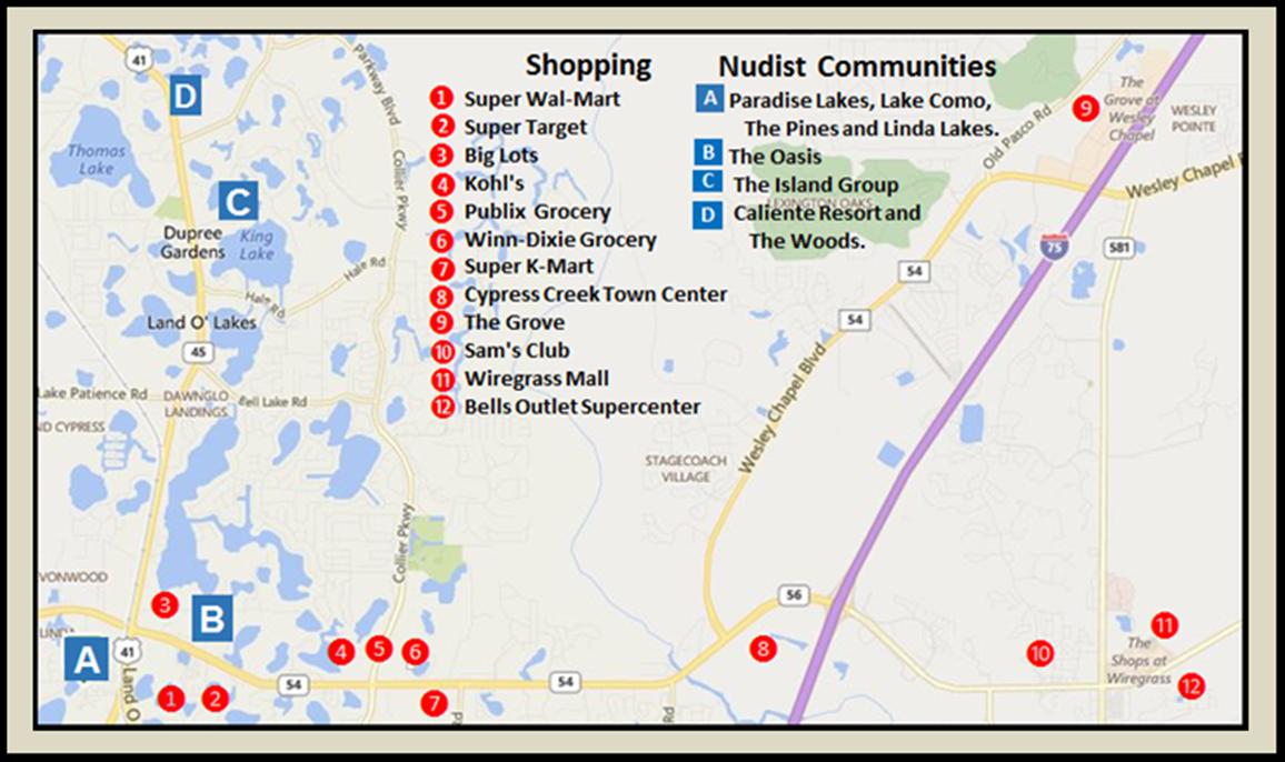 Maps & Aerial Views | Buy Sell Nudist Homes Condos Lutz Lol Fl - Lutz Florida Map