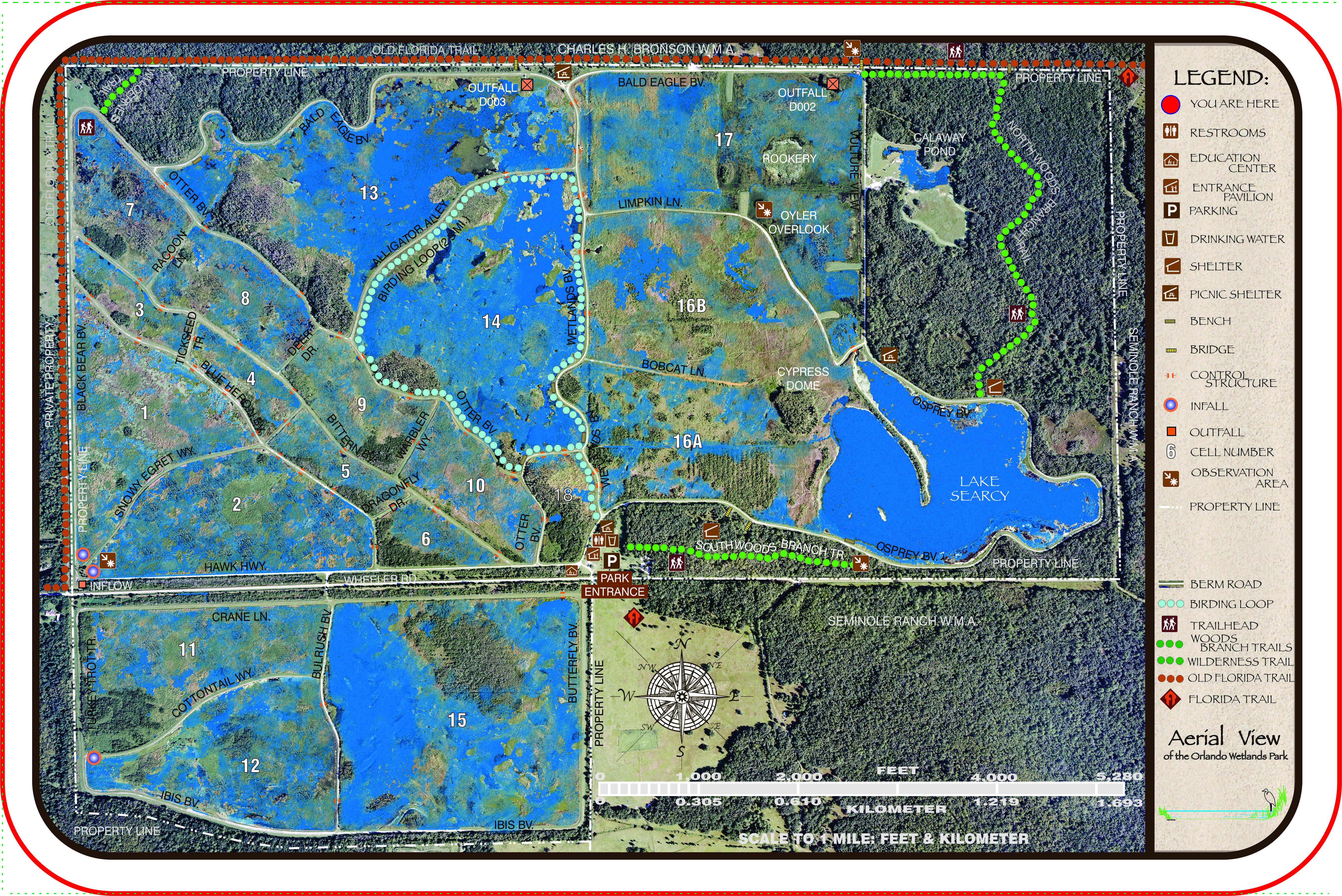 Maps And Brochures | Orlando Wetlands Park - Florida Wetlands Map