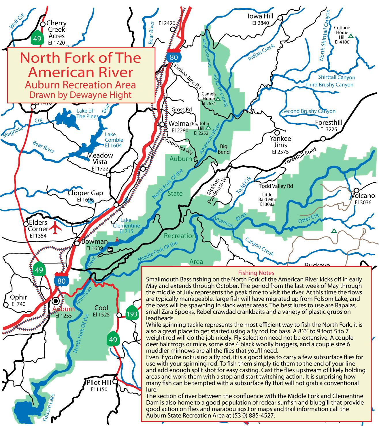 Maps - California Delta Bass Fishing Map