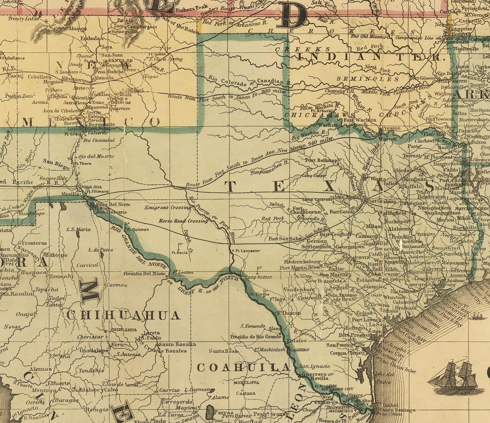 Maps Civil War - Civil War In Texas Map