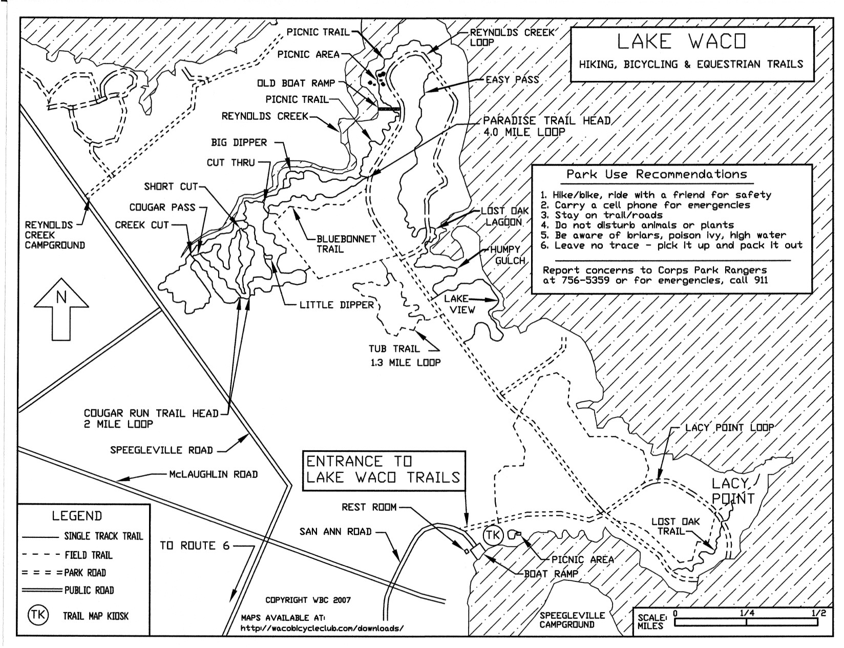 Maps - Corps Of Engineers Campgrounds Texas Map