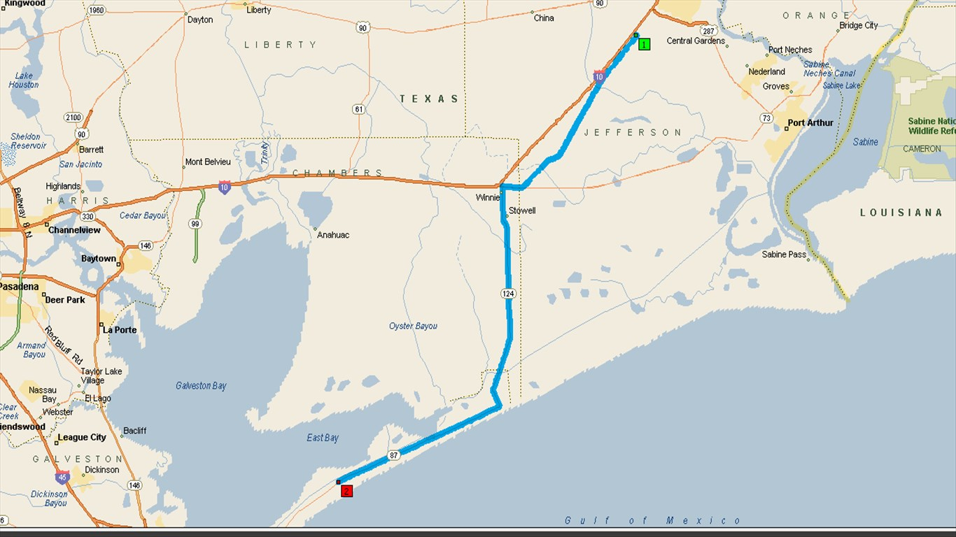 Maps - Crystal Beach Texas Map