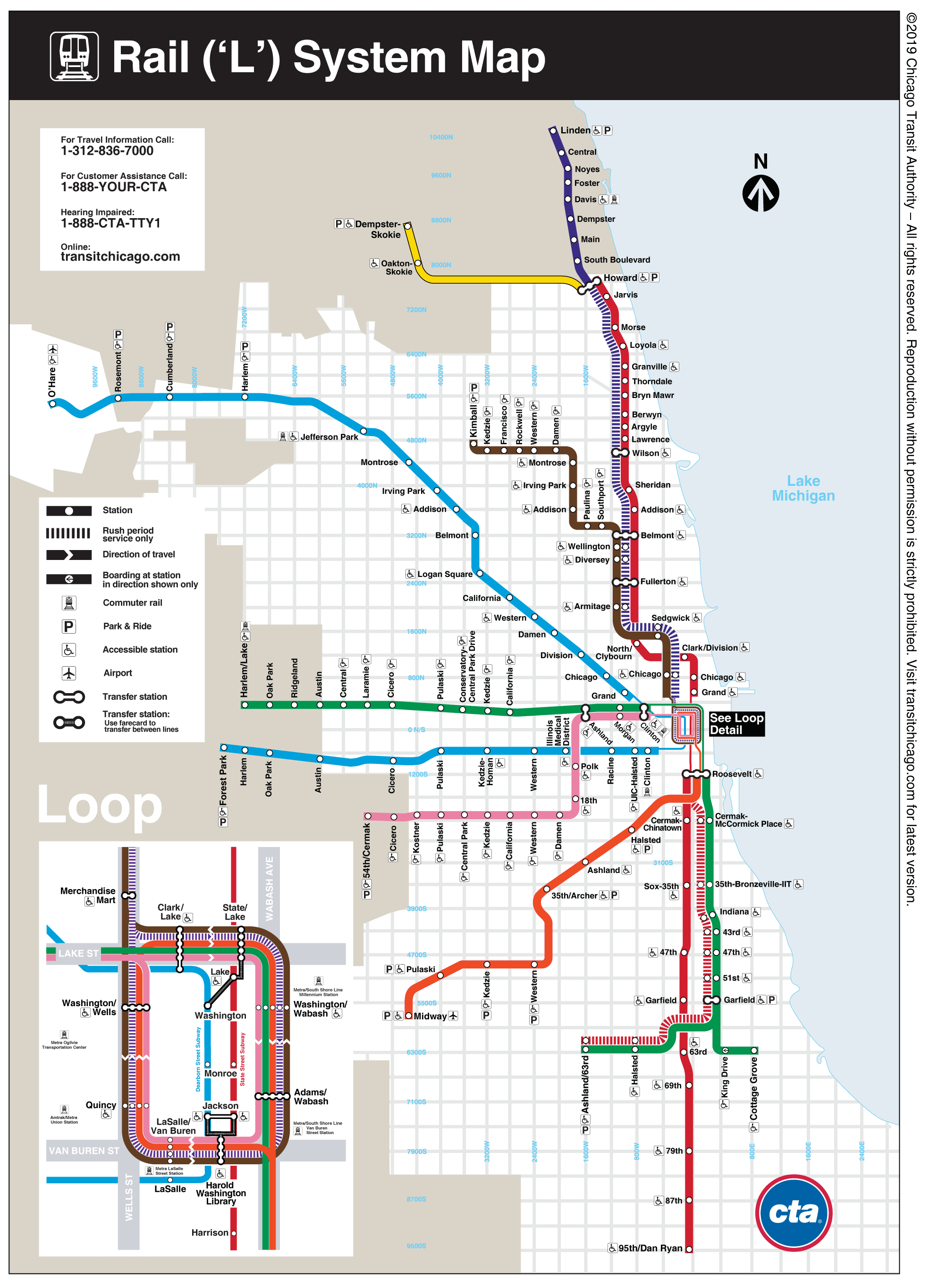 Maps - Cta - Printable Map Of Downtown Chicago